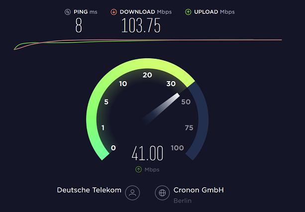 Breitbandmessung mit Speedtest