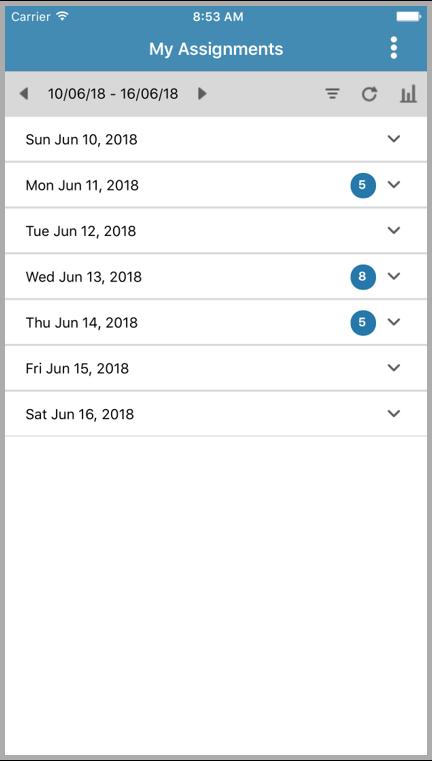 Screenshot 2 der Infor Resource Assignments App