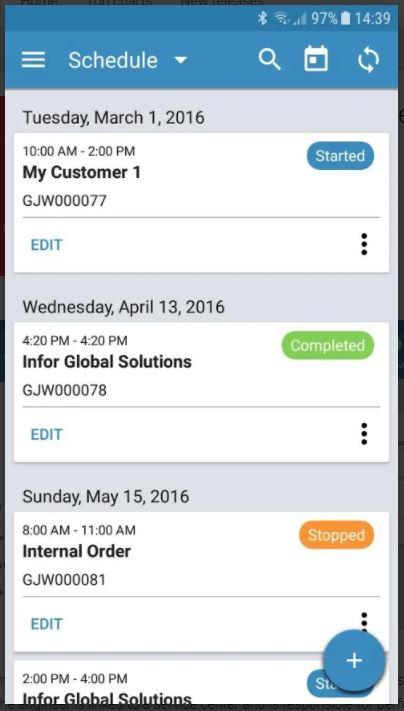 Screenshot 3 der Infor LN Mobile Field Service App