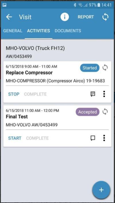 Screenshot 4 der Infor LN Mobile Field Service App