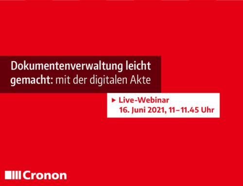 Live-Webinar am 16.06.2021: Dokumentenverwaltung leicht gemacht – mit der digitalen Akte