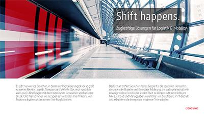 Darstellung des Titels der Broschüre Logistik und Mobility