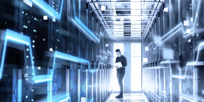 IT-Transformation, Angestellter im Rechenzentrum